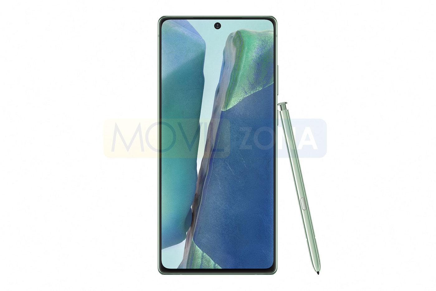 Samsung Galaxy Note 20 verde con open
