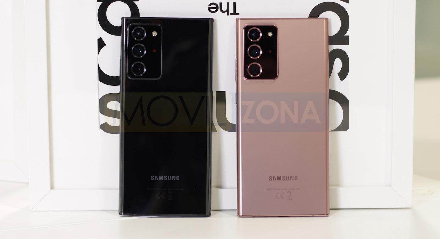 Samsung Galaxy Note 20 Ultra negro y bronce