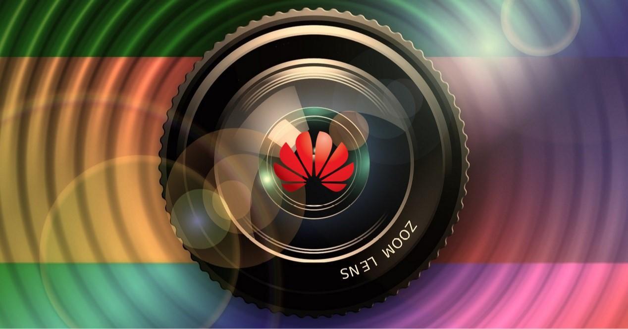 icono de camara con logo de Huawei