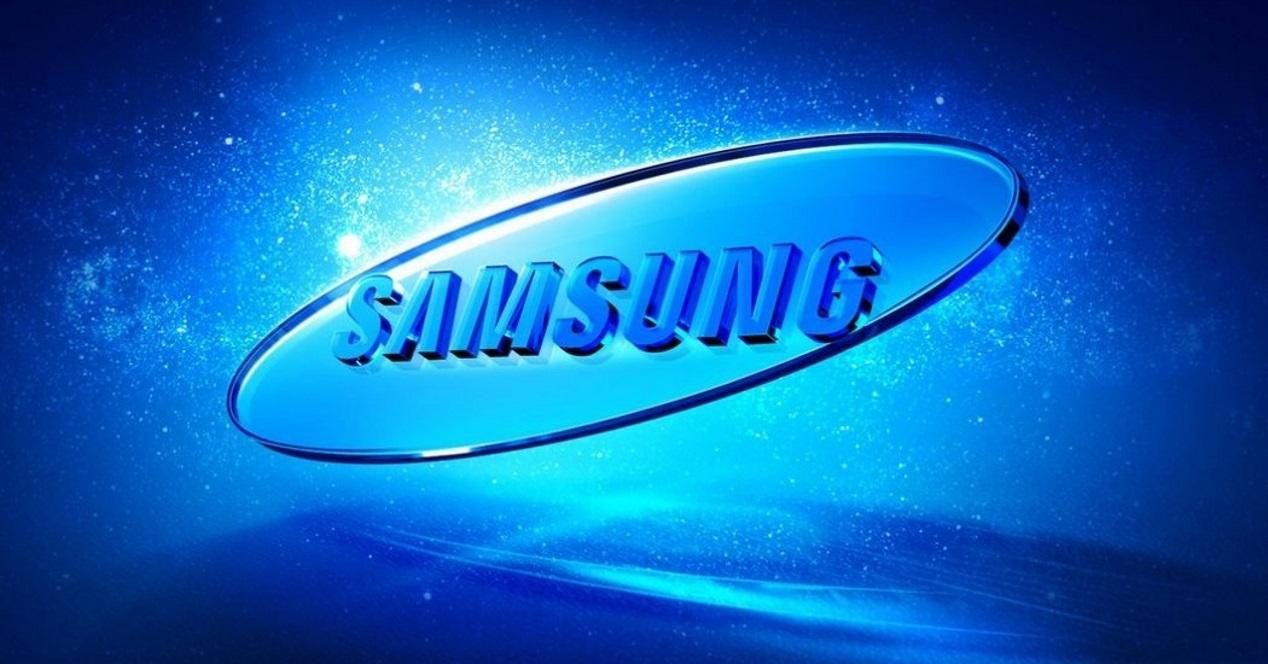 logo de samsung azul