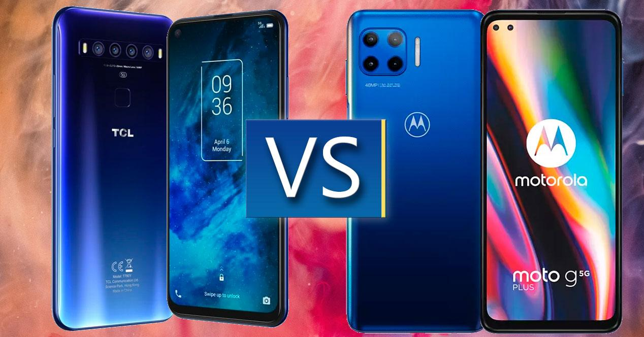 TCL 10 5G vs Motorola Moto G 5G Plus