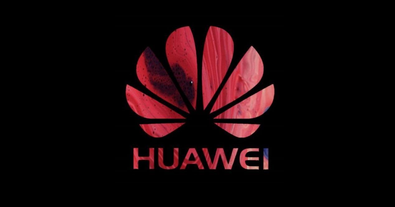 Huawei logo rojo