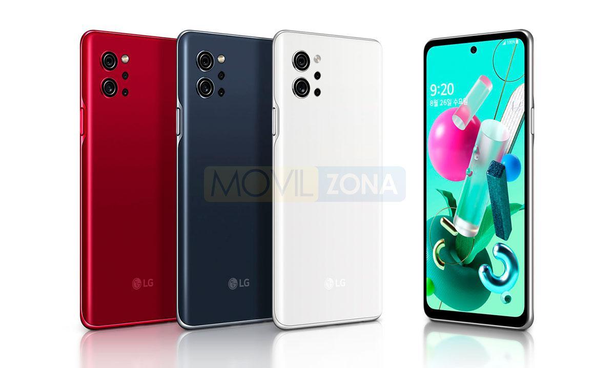 LG Q92 diseño