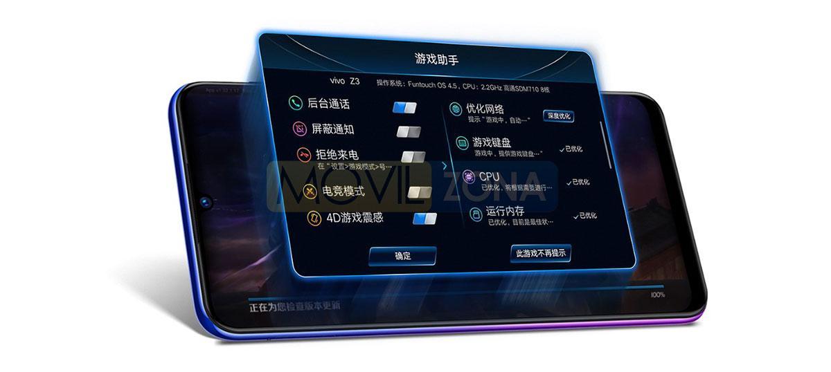 VIVO Z3 pantalla