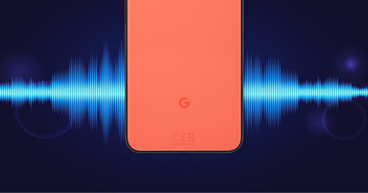 google pixel 4 y ondas de sonido