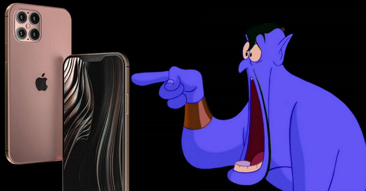 iPhone 12 Pro Max y genio de Aladdin