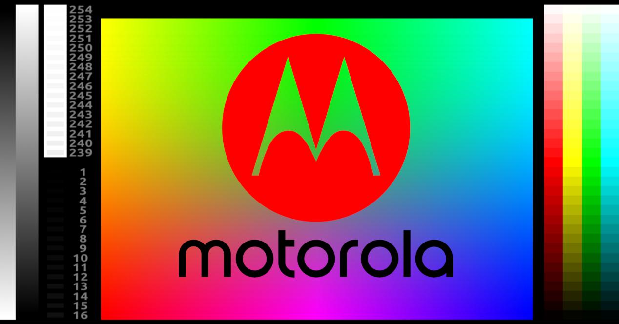 motorola logo pantalla colores