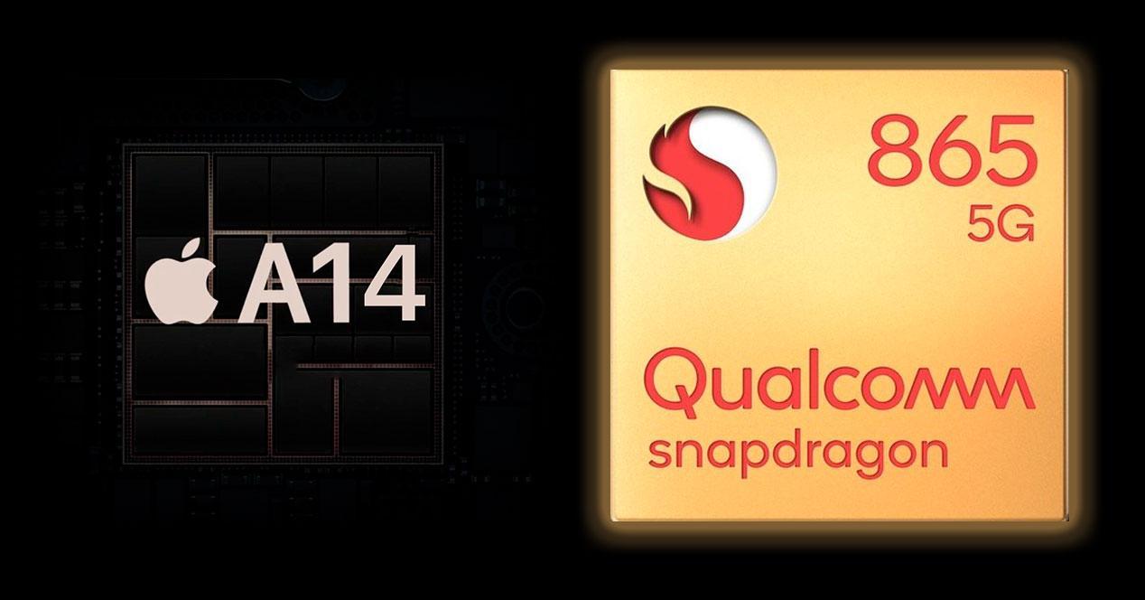 Apple A14 Snapdragon 865