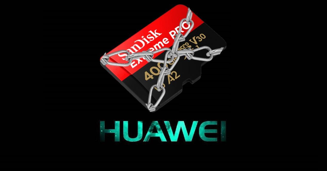 Huawei tarjeta con cadenas