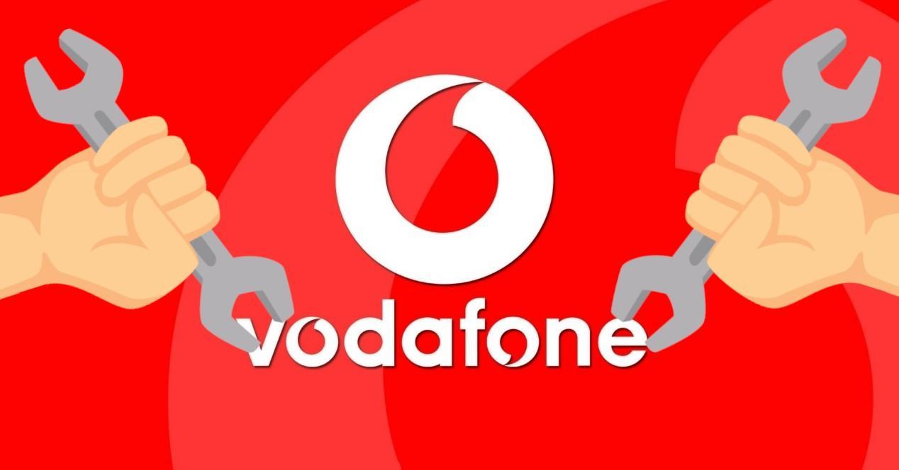 Vodafone logo y reparación