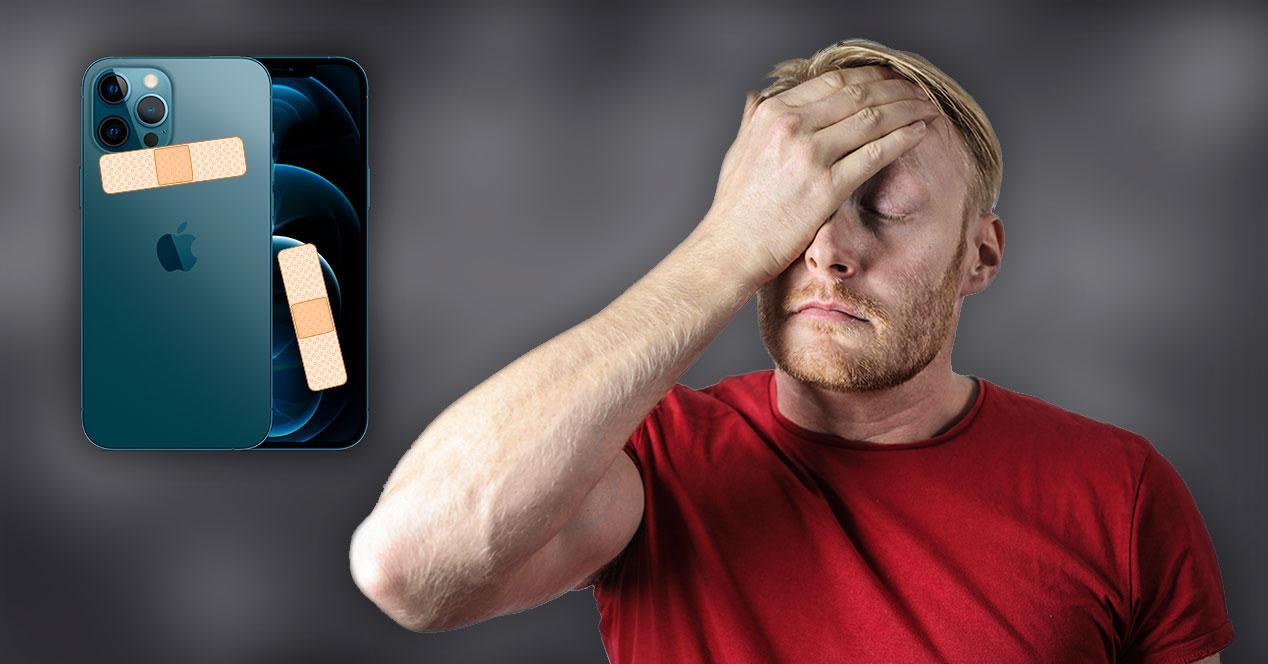 iphone 12 roto tirita