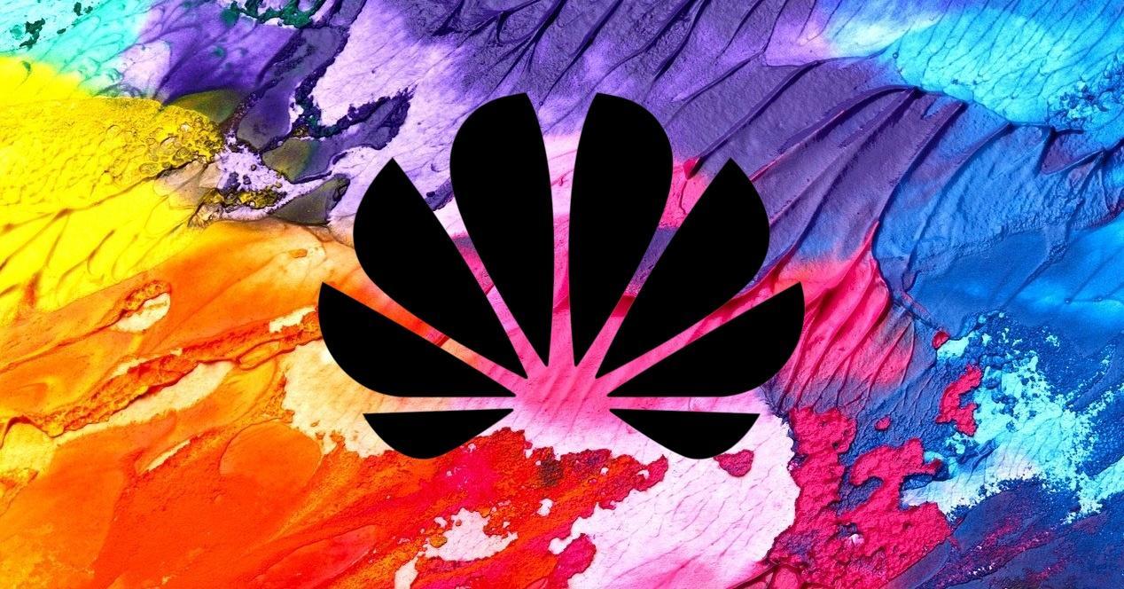 logo negro de huawei y colores