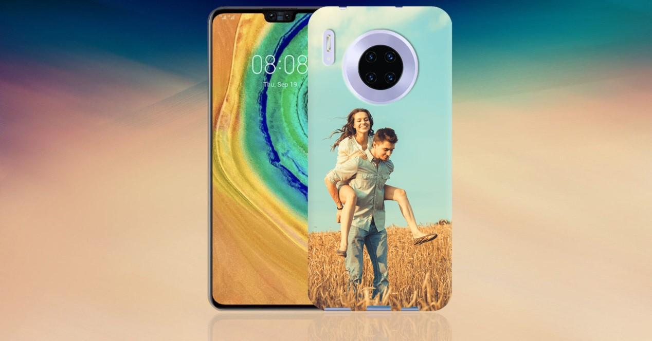 Huawei mate 30 pro y fondo color