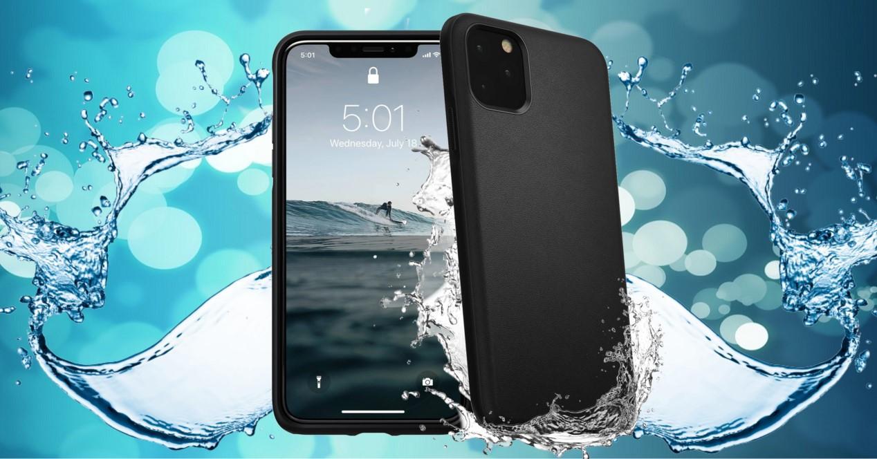 móvil carcasa de agua
