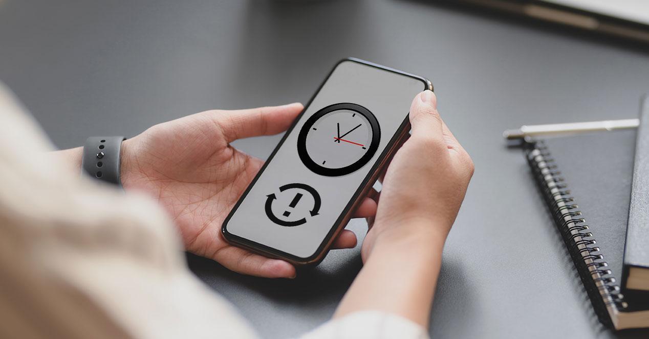 problema cambiar hora movil