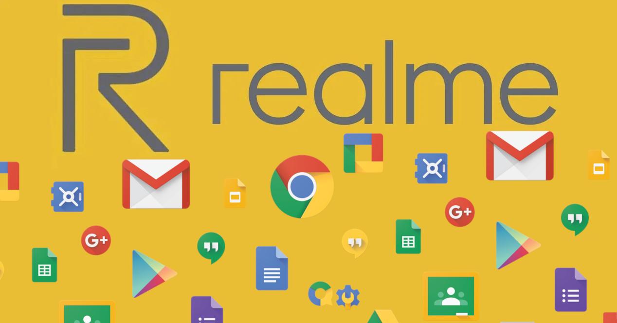 realme logo con apps