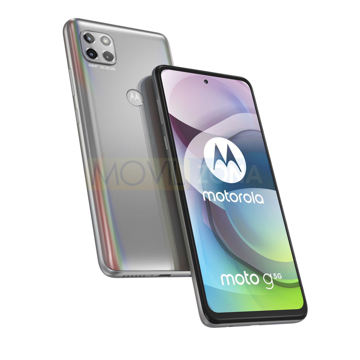 Moto G 5G diseño plata