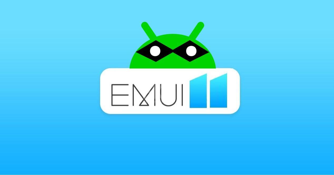 android espia y logo emui 11