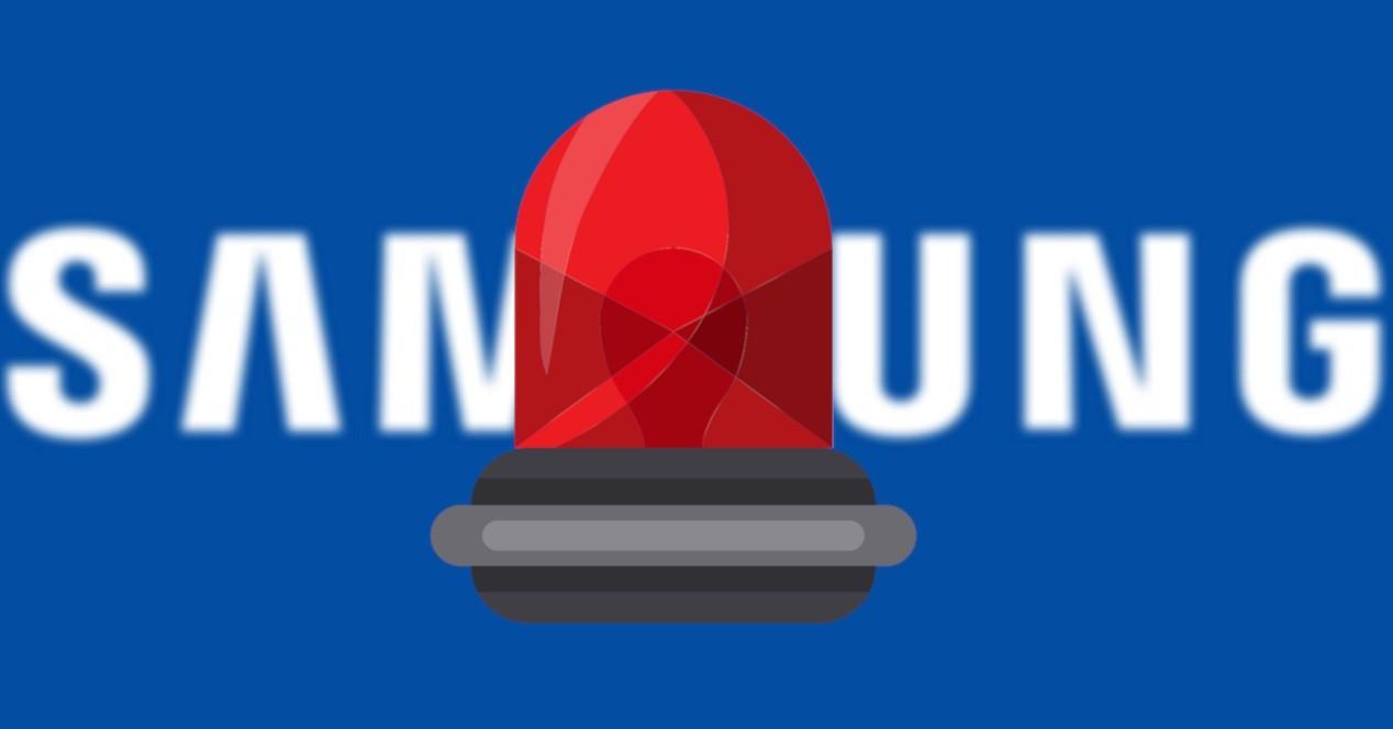 samsung y logo de alarma