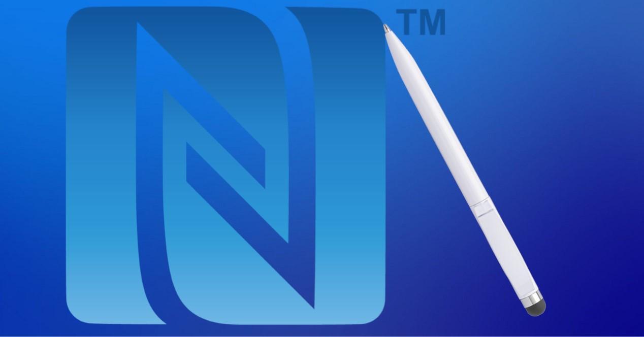 stylus y logo NFC