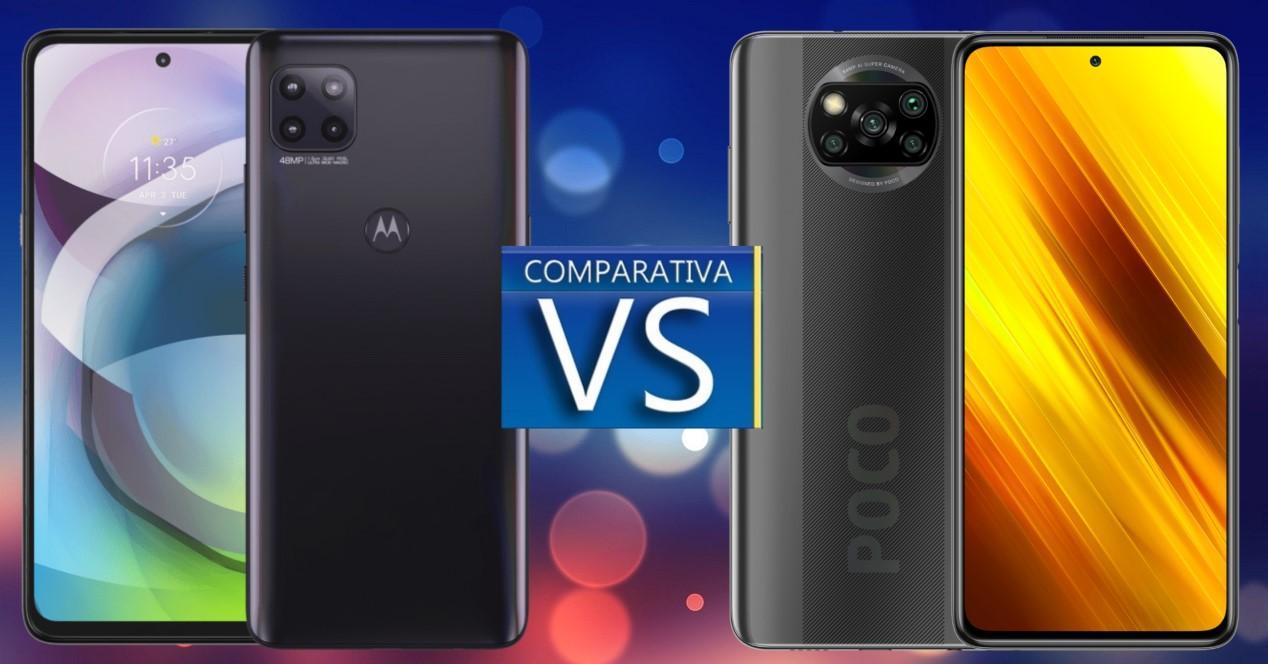 Comparativa entre el Moto G 5G y el Poco X3