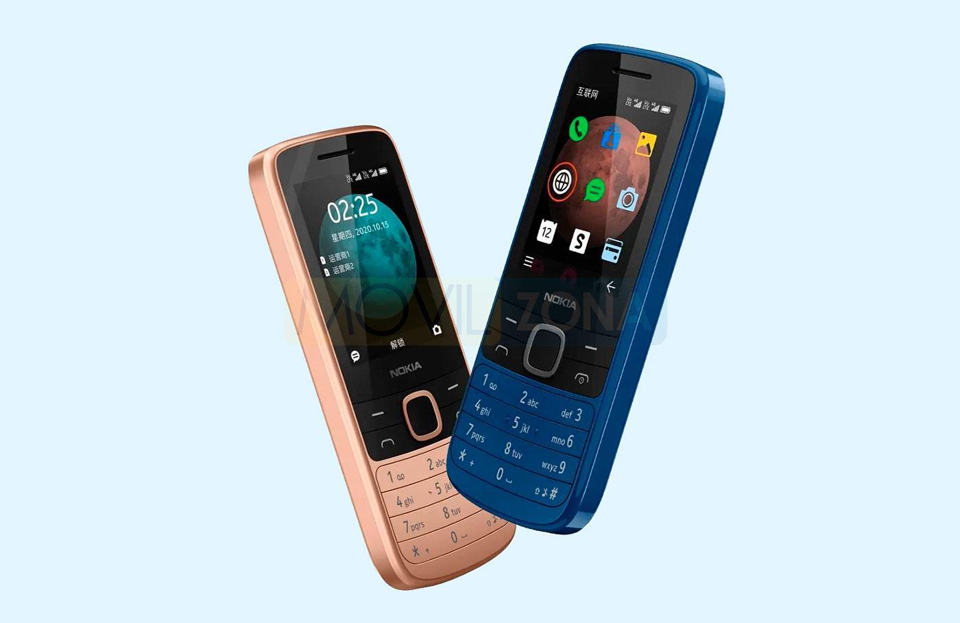 Nokia 225 4G azul y bronce