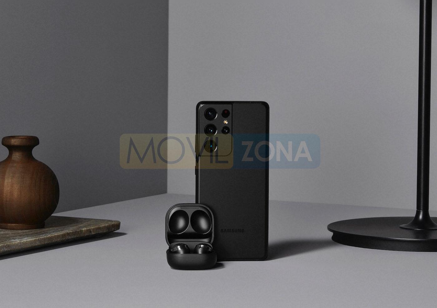 Samsung Galaxy S21 Ultra y airbuds