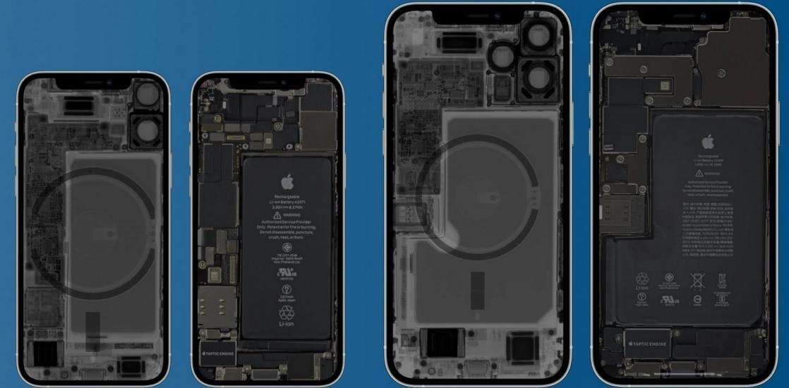 apple iphone 12 par dentro