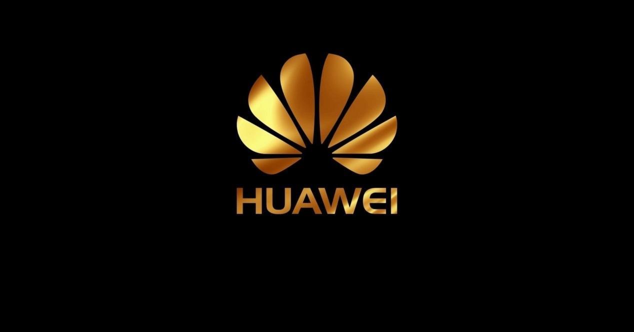 huawei logo dorado