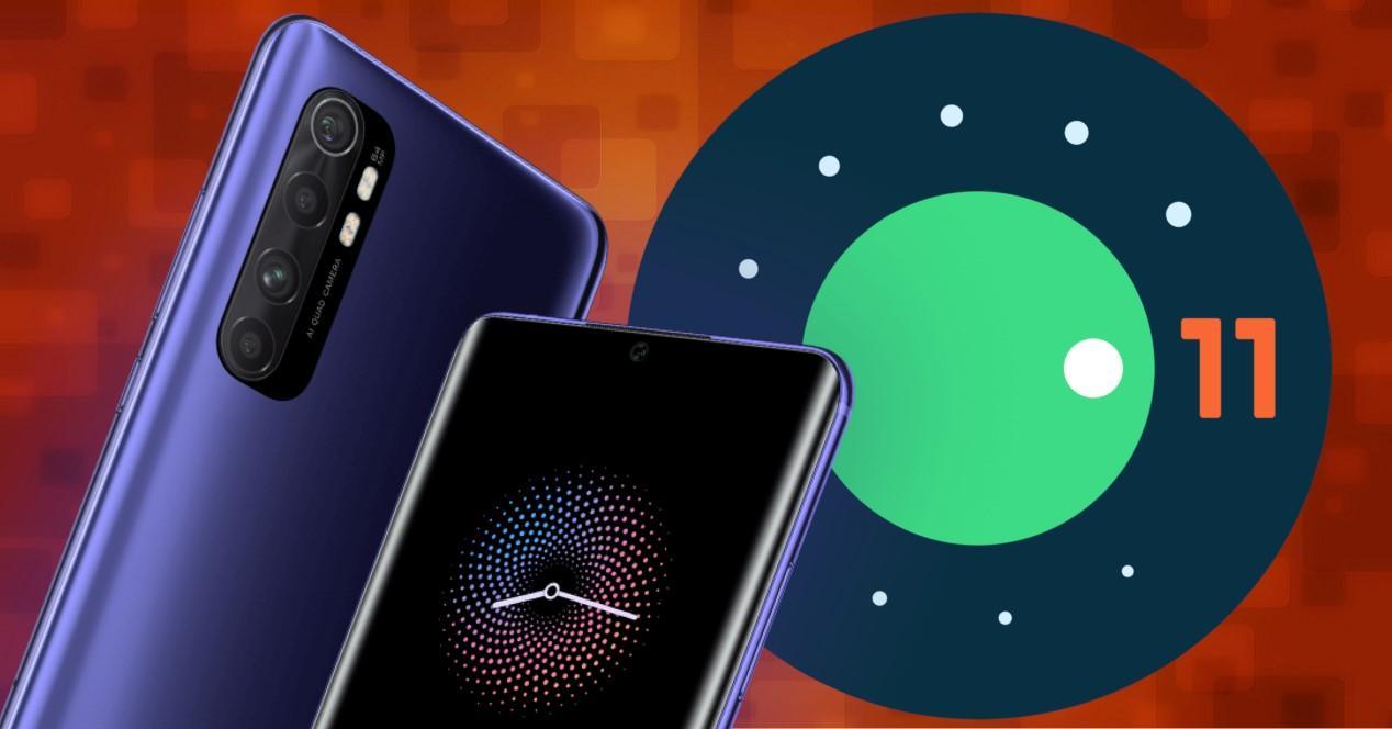 mi note 10 lite y android 11