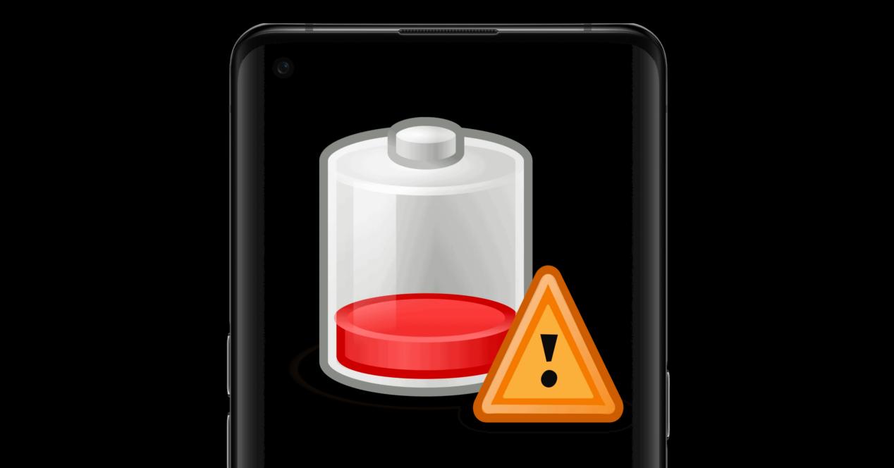 móvil e icono de batería