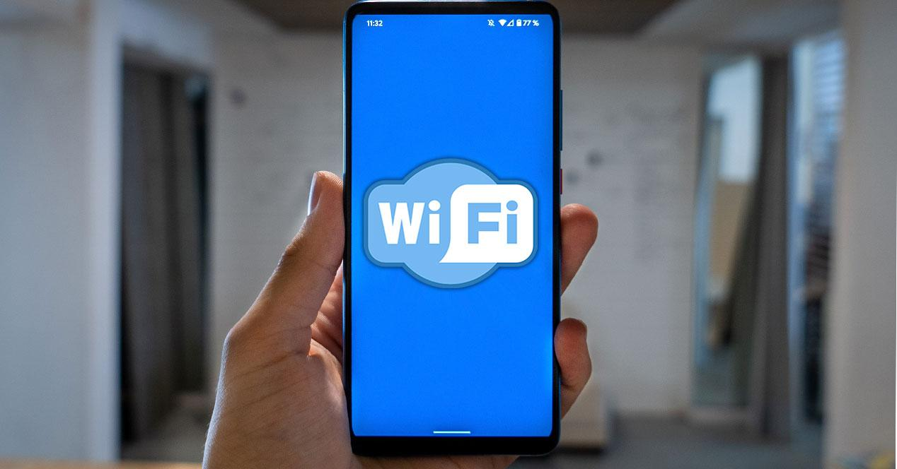 wifi movil android mano