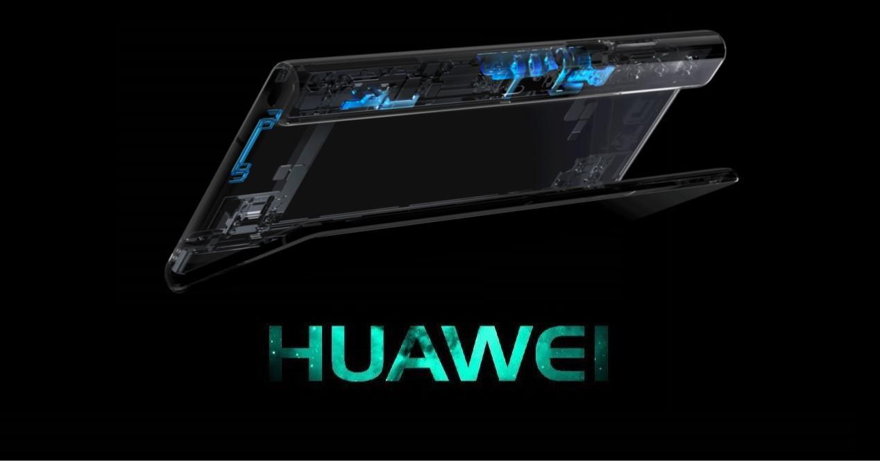 Huawei Mate X2 plegable y logo huawei