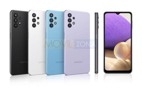 Samsung Galaxy A32 5G diseño y colores