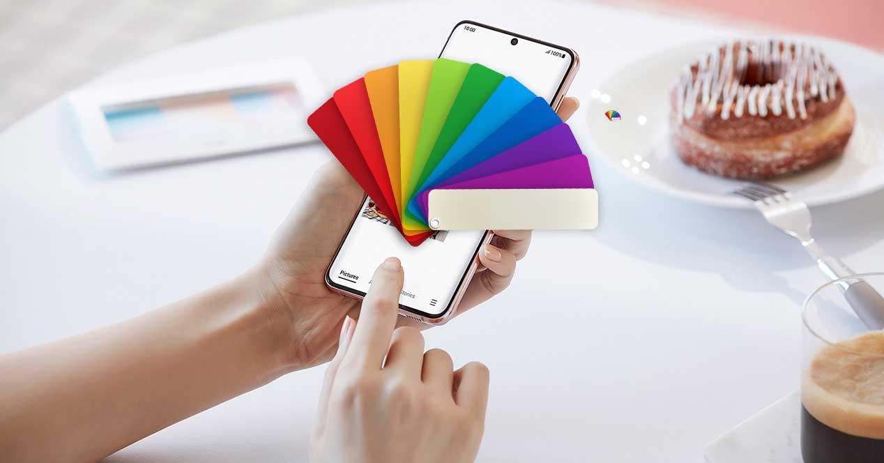 color pantalla movil