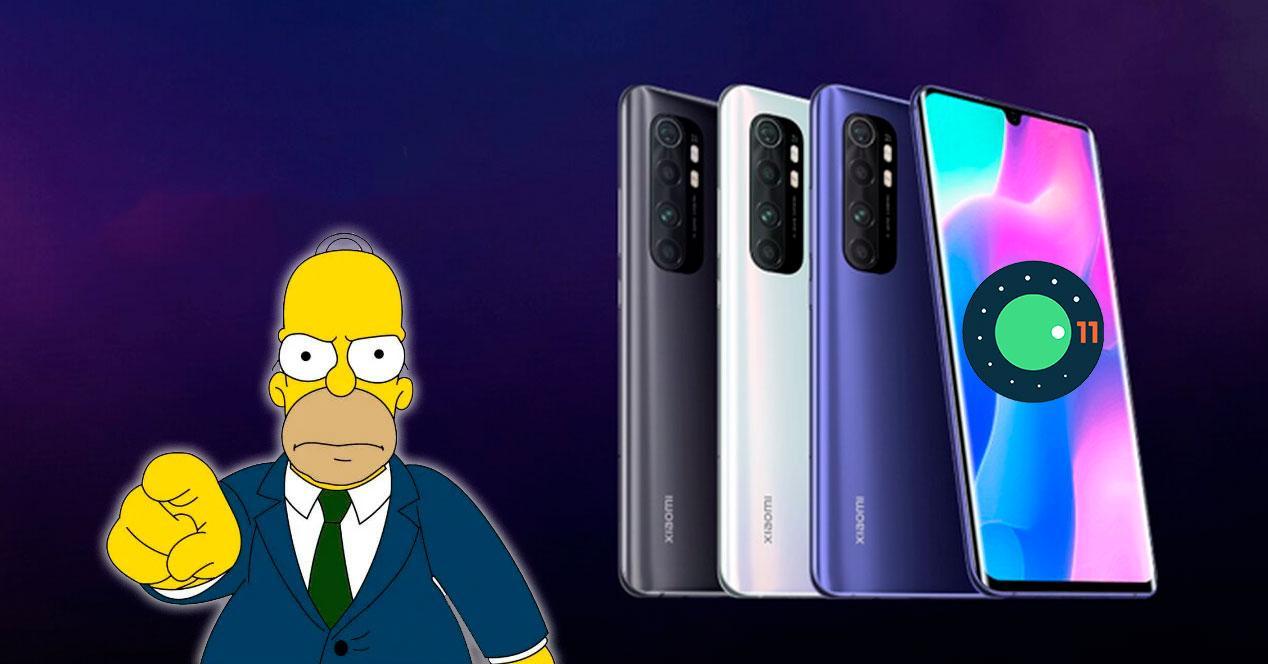 problema enfadado android 11 mi note 10 lite