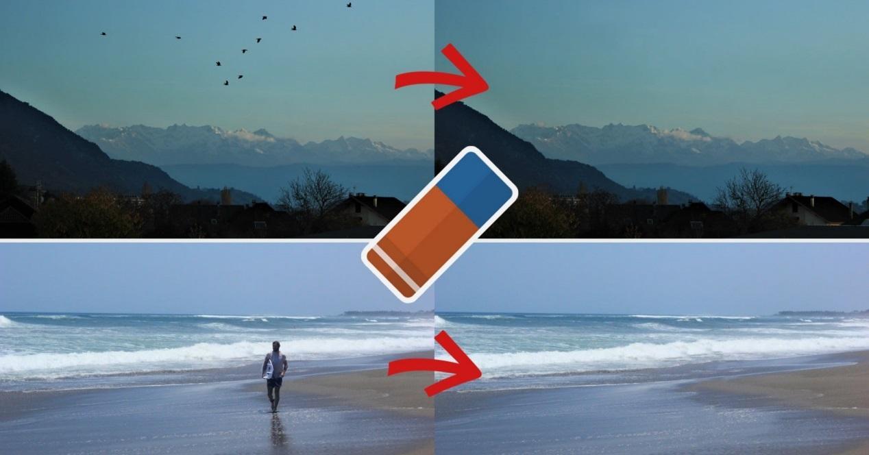 remover objetos de fotos