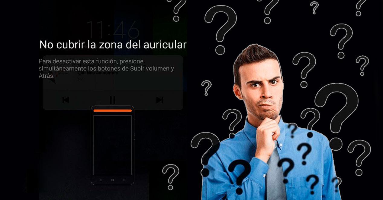 aviso zona auricular android