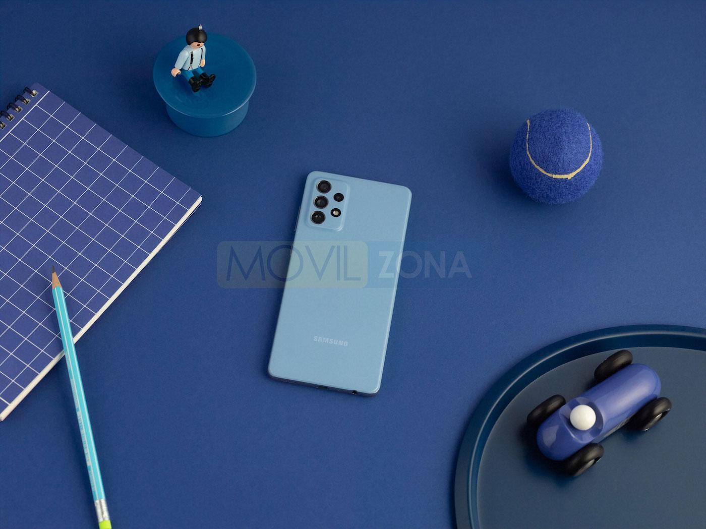 Samsung Galaxy a72 azul