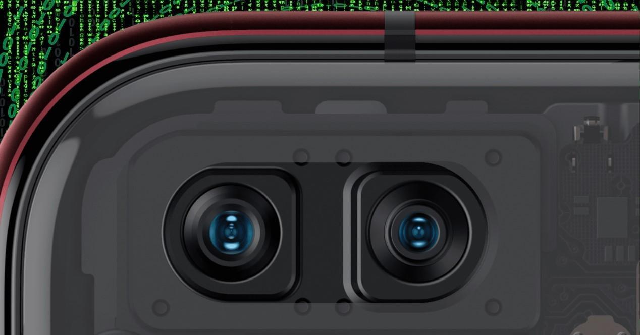 cámara frontal
