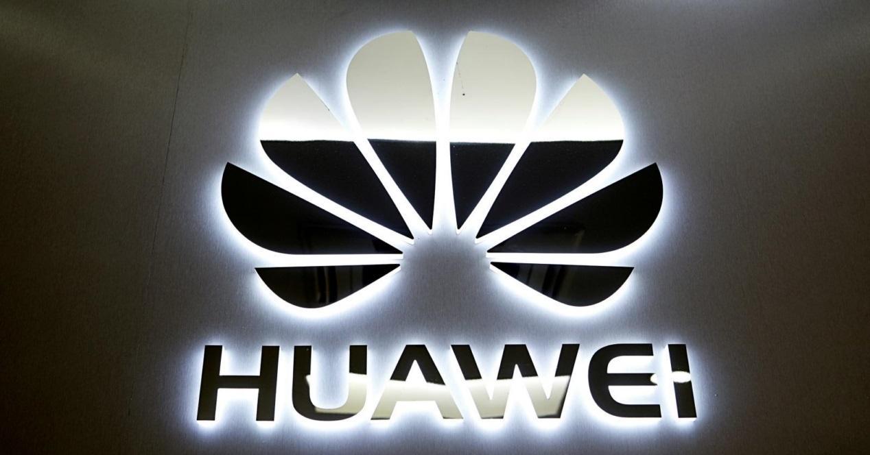 huawei logo plateado