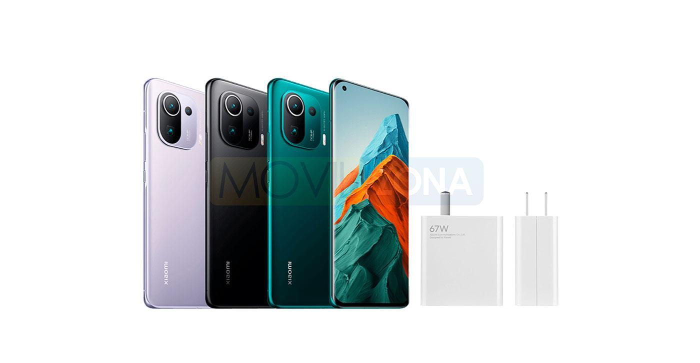 Xiaomi Mi 11 Pro con cargador