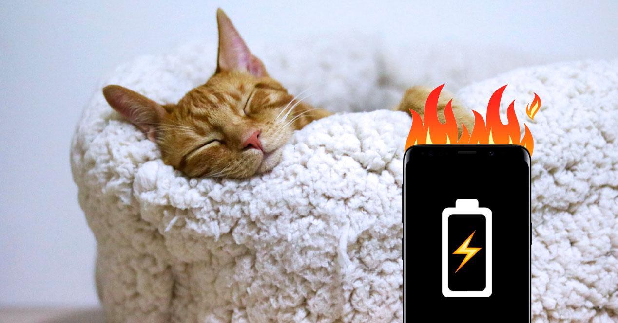 fuego peligro cargar batería durmiendo