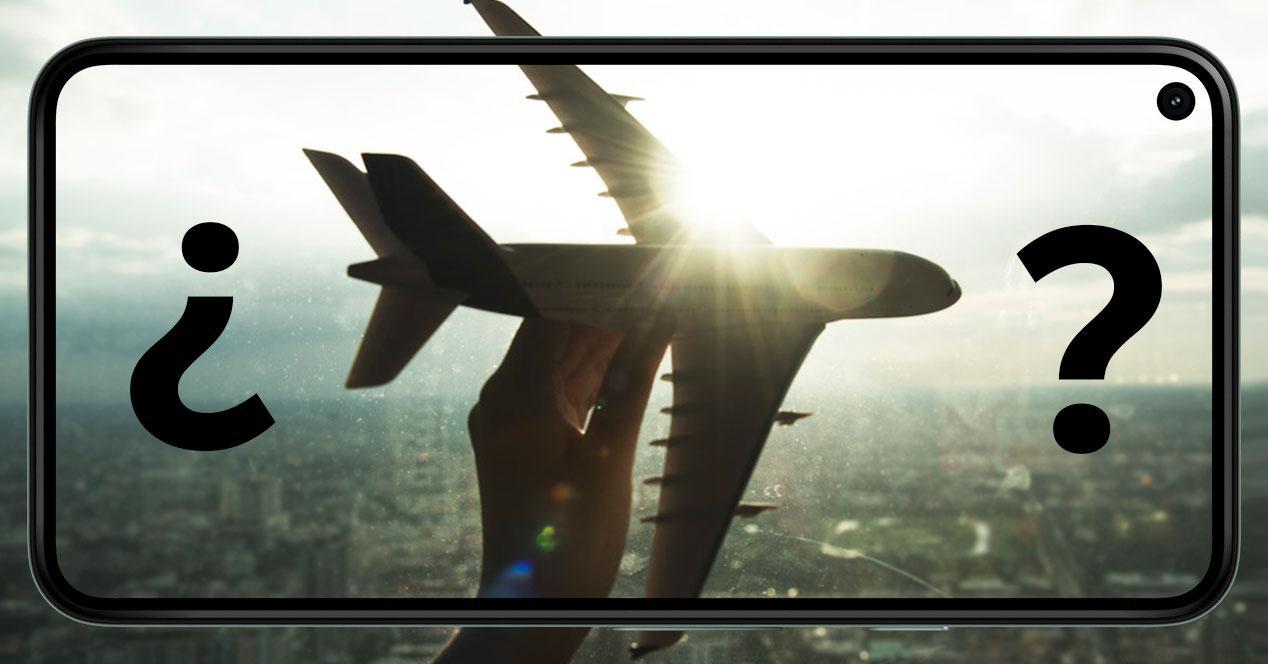 modo avion movil