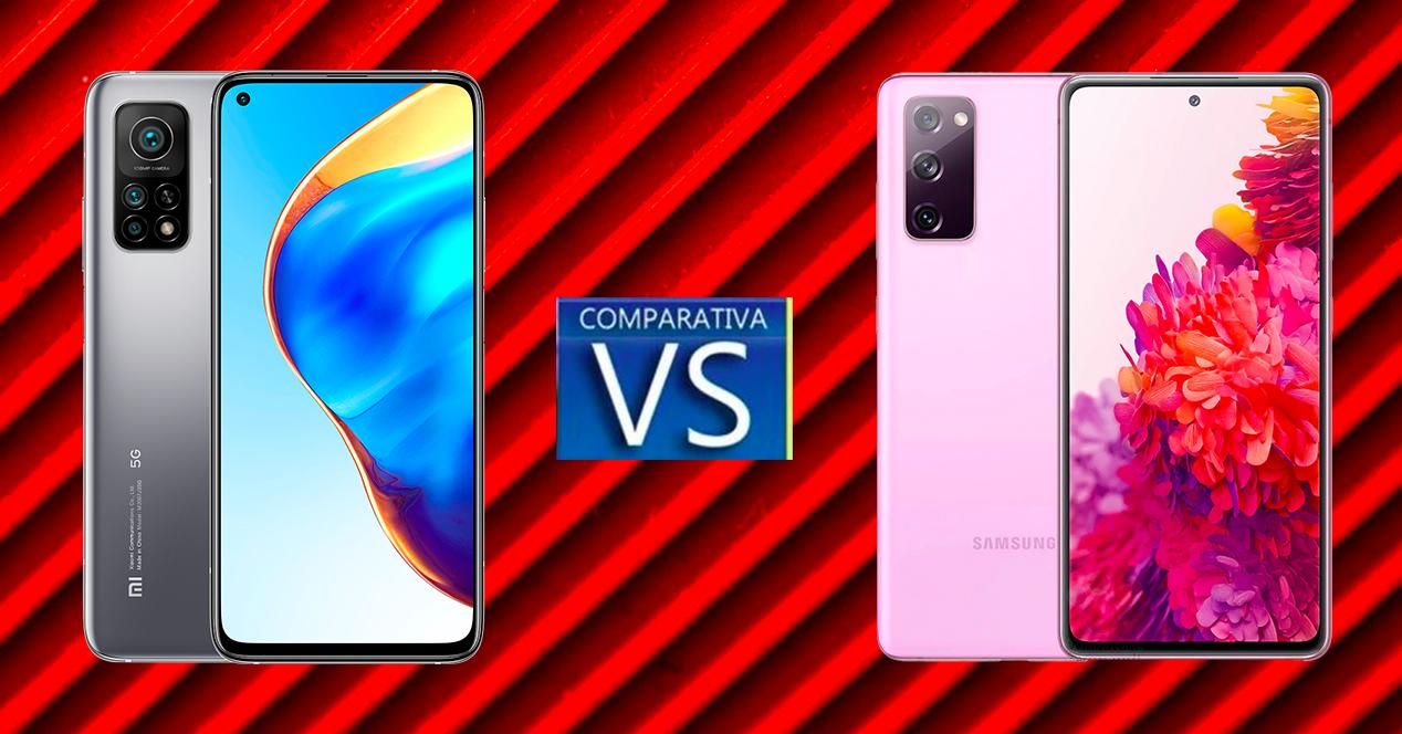 Comparativa Xiaomi Mi 10T Pro y Samsung Galaxy S20 FE