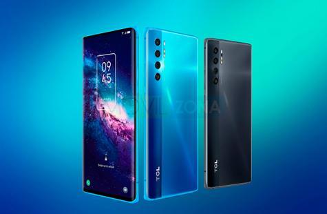 TCL 20 Pro 5G azul y negro