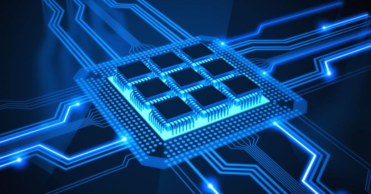 Núcleos de un procesador de móvil