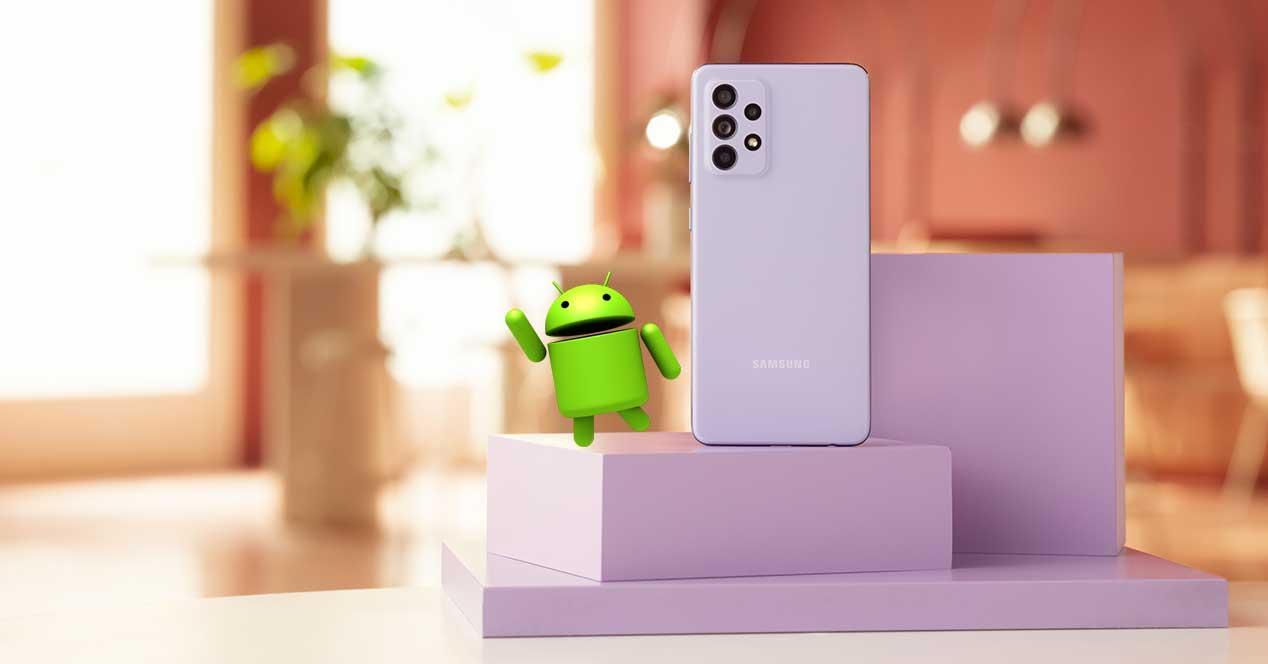 Android 12 móviles Samsung