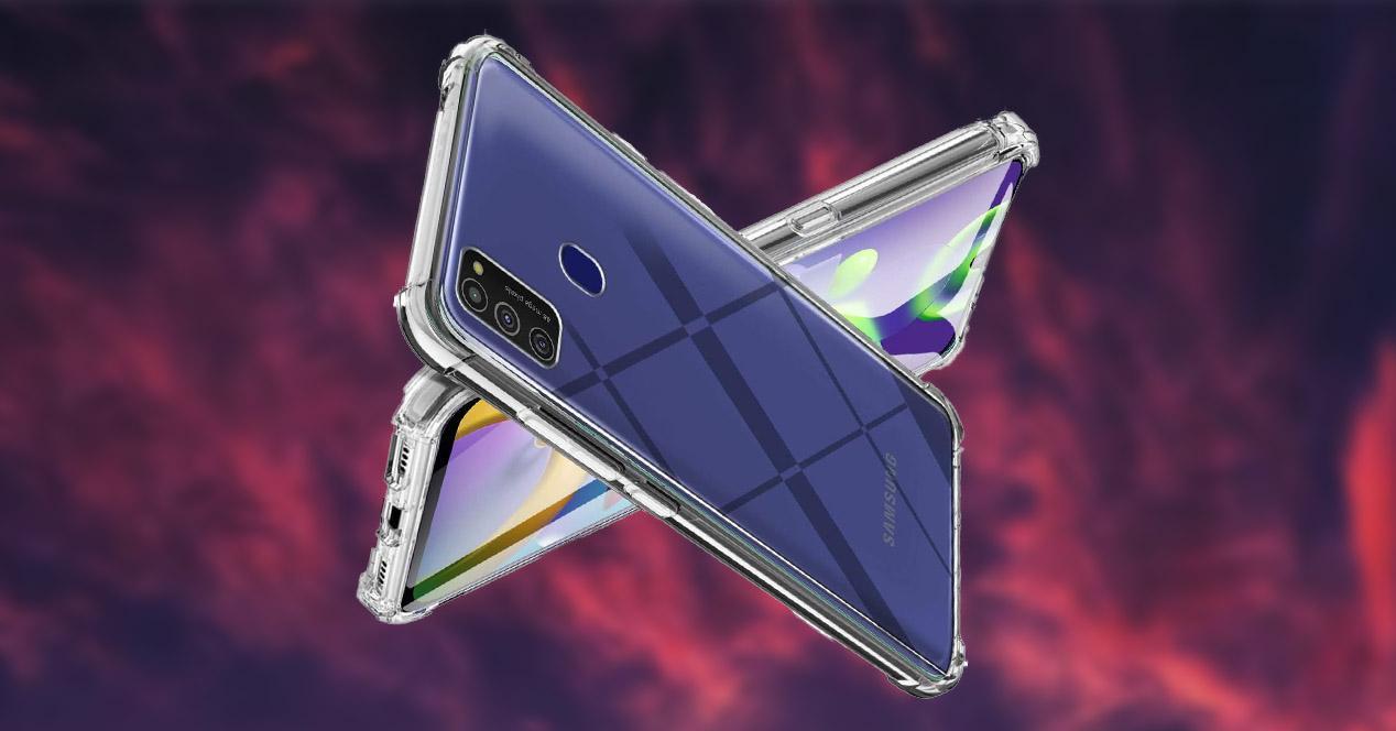 Samsung con funda