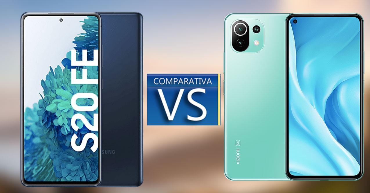 comparativa s20 FE vs Xiaomi Mi 11